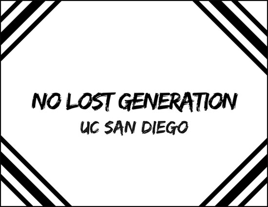 No Lost Generation UC San Diego - illustrated logo