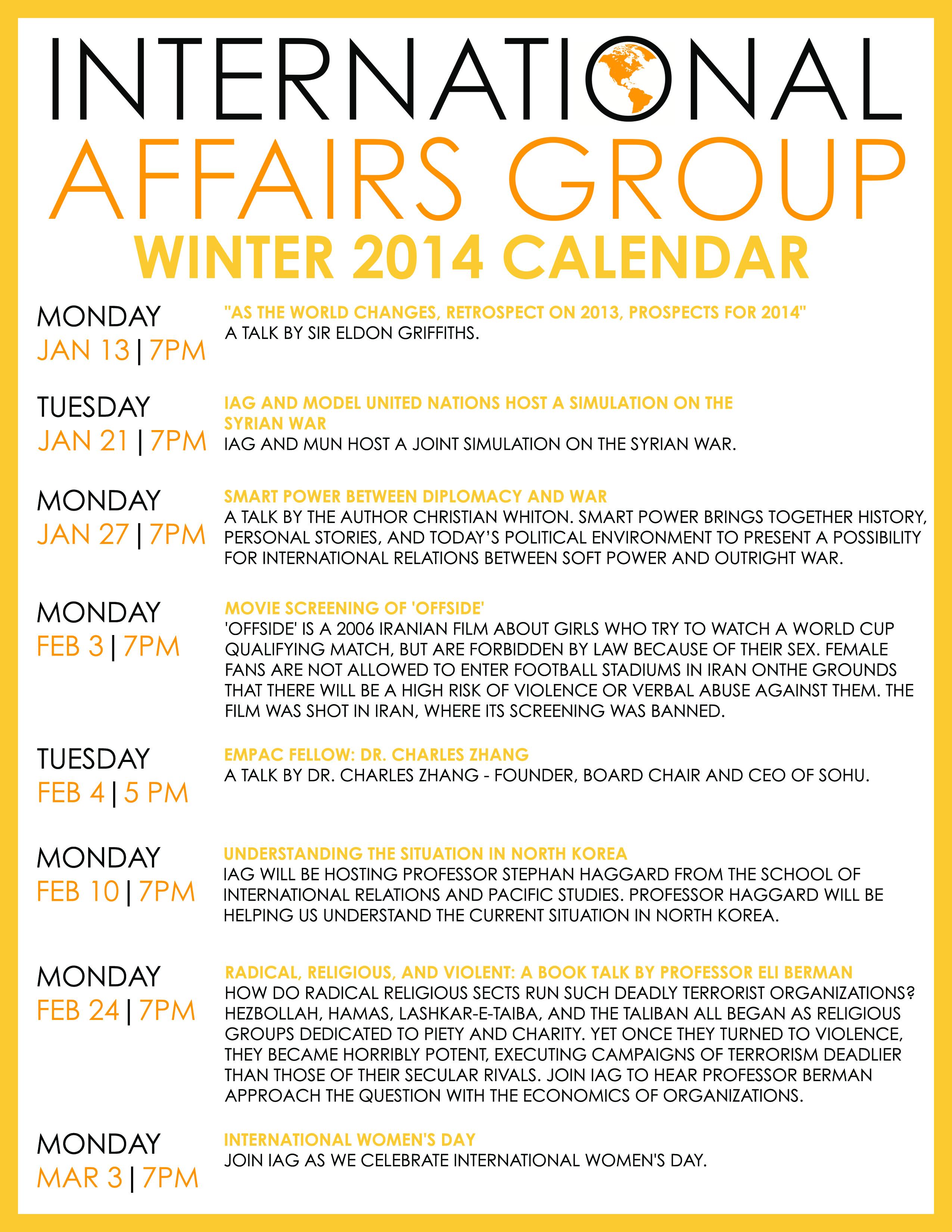 international affairs group iag winter 2014 calendar